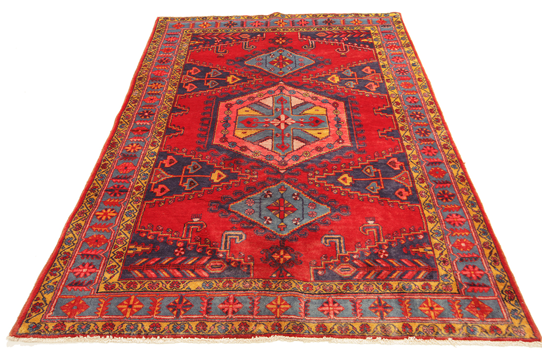 Persisk Viss 210 x 155 cm - Persisk Viss 210 x 155 cm. Håndknyttet uld på bomuld