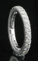 18kt eternity diamond ring approx. 1.25ct
