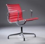 Charles Eames. Armstol, model EA-108, Full Leather.