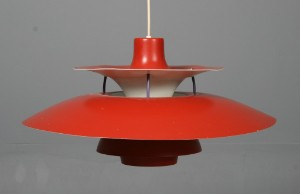 Vare: 2364423 Poul Henningsen 1894-1967: , PH 5, orange r?d pendel