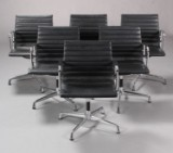 Charles Eames. Lounge chair, Model EA-108, in black leather (6)