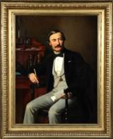 Hans Christian Jensen. Porträt des Diplomaten Frederik Christian Bruun, 1869