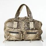 Chloé handväska Betty Large i naturmelerad orm