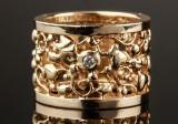 Ole Lynggaard Tornerose diamond ring, 14 kt. gold