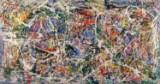 Niels Davernum, komposition, akryl på lærred