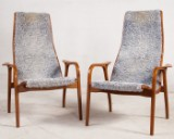 Yngve Ekström, two Lamino chairs for Swedese (2)