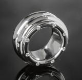 Rotating brilliant-cut diamond eternity ring approx. 0.64 ct.