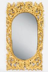 Wandspiegel, Holz, vergoldet, Ende 19. Jh./um 1900