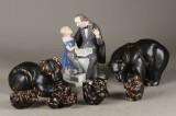 Kgl. og B&G, figurer, porcelæn og stentøj (7)
