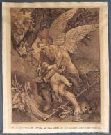 Ubekendt kunstner efter Anthonis van Dyck 'Tiden der klipper Amors vinger', tusch på papir, 1700/1800-tallet