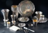 Samling silverföremål, vikt: ca 1.750 gram (17)