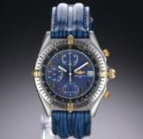 Breitling 'Chronomat'. Herrechronograf i guld og stål med blåviolet skive, 1990'erne