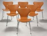Arne Jacobsen. 7'er spisestole / stabelstole, model 3107 (6)