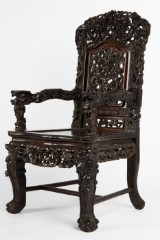 A chair, China, from the Qing dynasty, 1880, wood
