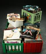 Samling LP-plader samt single-plader (ca. 750)
