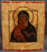 Icon with depiction of Mother of God, Vladimir