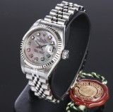 Rolex Datejust. Ladies watch, steel with mother of pearl dial set with diamonds, c. 1990