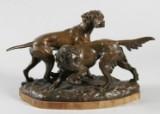 Lauritz Jensen. Bronzefigur iform af jagthunde