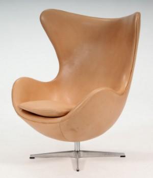 Arne Jacobsen Das Ei Sessel Natur Anilinleder Lauritzcom