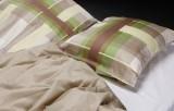 Fire komplette sengesæt i gaveæske, mokkafarvet mønster, KEOPS COLLECTION (8 dele)