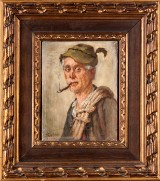 Maximilian Schultze-Bertallo, a painting, portrait, Leipzig