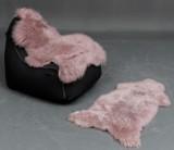 To  Lys gammel rosa europæiske indfarvede lammeskind (2)