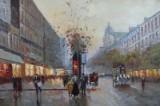 C. Hoppmann,Öl auf Leinwand, Pariser Szene
