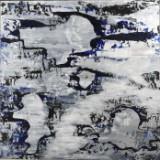 Niels Bjørndahl. Akryl på plade. Komposition