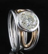 Diamond ring in 18kt approx. 4.00ct