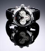 Chopard 'Mille Miglia Jacky Ickx'. Limiteret herrechronograf i stål med sort skive, ca. 2007