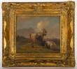 Henri Lot, Gemälde, Ziegen auf einer Anhöhe