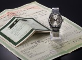 Rolex 'Date'. Vintage men's watch in steel with silver-coloured dial - chronometer certificate 1965