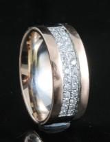 Handmade diamond ring in 18kt approx.0.40ct