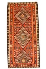 Nordvest persisk Kelim, 425x180 cm.