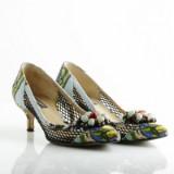Dolce & Gabbana, pumps i mönstrad canvas