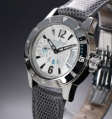 Jaeger-LeCoultre 'Master Compressor Lady Diving GMT'. Ladies' watch in steel with diamonds, approx. 2010