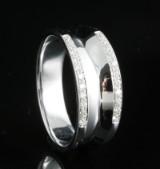 18kt handmade diamond ring approx. 0.20ct