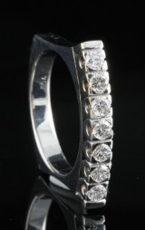 18kt diamond eternity handmade ring approx. 0.58ct