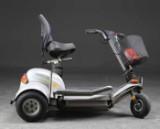 Citycruiser, trehjulet scooter med lader, nøgle medfølger
