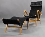 Bruno Mathsson. 'Pernilla' hvilestol med skammel (2)