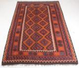 Afghansk Meymaneh kelim, uld på uld, 303 x 203 cm