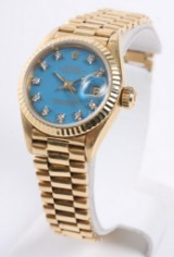 Rolex Oyster Perpetual Datejust ladies watch, 18 kt gold
