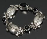 Georg Jensen. 'Moonlight blossom' armbånd, sterling sølv