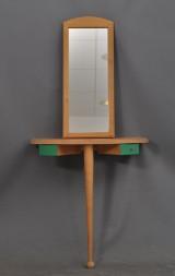 Hallspegel med konsolbord, björk (2)