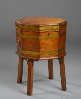 Engelsk vinkøler af mahogni, 1800-tallet