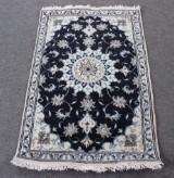 Persisk Nain med silke, 140 x 90 cm.