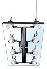 Antonio Citterio & Oliver Löw, Flos,  Lastra hanging ceiling lamp