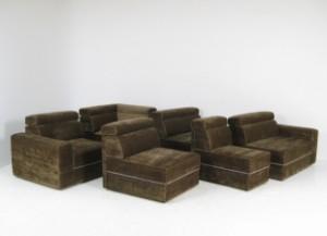 Sitzlandschaft sofa elemente der 1970 80 jahre 6 diese for Sitzlandschaft sofa