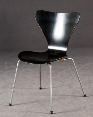 ware 4219762 arne jacobsen stapelstuhl stuhl modell 3107 f r fritz hansen. Black Bedroom Furniture Sets. Home Design Ideas