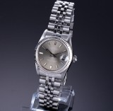Rolex Datejust. Mid-size ladies watch, steel with silver-grey dial, c. 1984